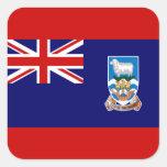 Bandera de las Islas Malvinas Pegatina Cuadrada