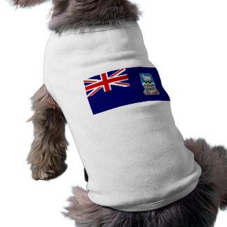 Bandera de las Islas Malvinas Camiseta De Perrito