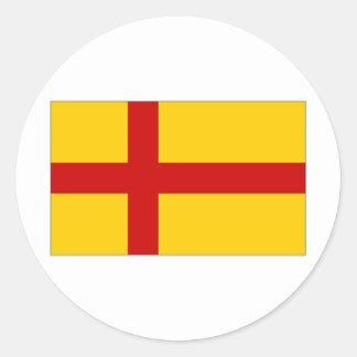 Bandera de las Islas Orcadas de Reino Unido Etiquetas Redondas