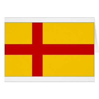 Bandera de las Islas Orcadas de Reino Unido Tarjeton