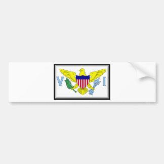 Bandera de las Islas Vírgenes de los E.E.U.U. Pegatina Para Coche