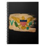 Bandera de las Islas Vírgenes Libro De Apuntes Con Espiral
