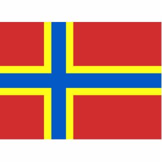 Bandera de las Orcadas Fotoescultura Vertical