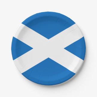 Bandera de las placas de papel de Escocia Plato De Papel De 7 Pulgadas