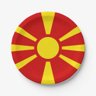 Bandera de las placas de papel de Macedonia Plato De Papel