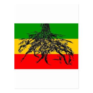Bandera de las raíces postal