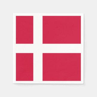Bandera de las servilletas de papel de Dinamarca