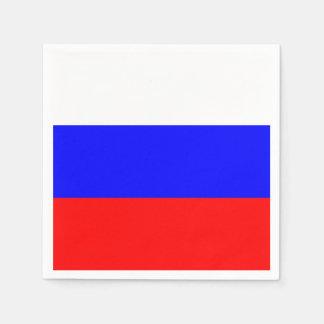 Bandera de las servilletas de papel de Rusia