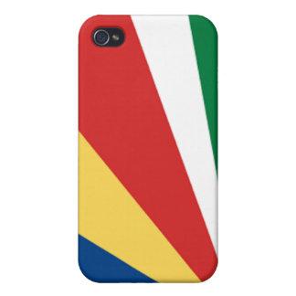 Bandera de las Seychelles iPhone 4/4S Carcasas
