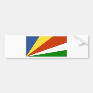 Bandera de las Seychelles Pegatina Para Auto