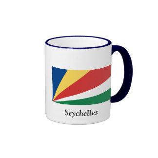 Bandera de las Seychelles Taza A Dos Colores