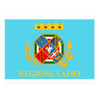 Bandera de Lazio (Italia) Postal