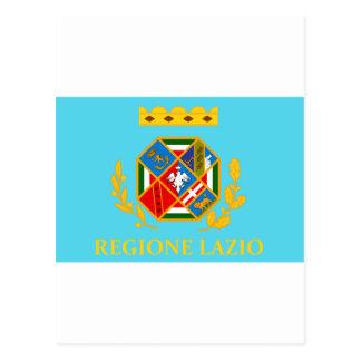 Bandera de Lazio (Italia) Tarjetas Postales