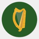 Bandera de Leinster (Irlanda) Pegatina Redonda