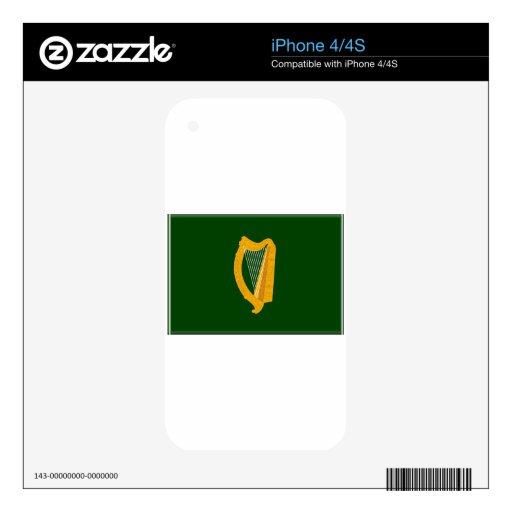 Bandera de Leinster (Irlanda) Calcomanía Para iPhone 4