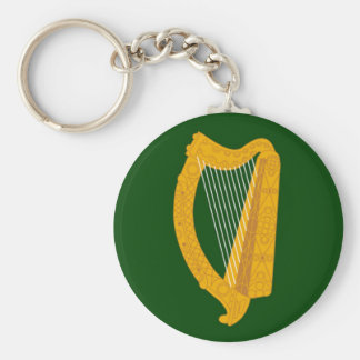 Bandera de Leinster Llavero Redondo Tipo Pin