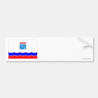 Bandera de Leningrad Oblast Etiqueta De Parachoque