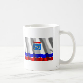 Bandera de Leningrad Oblast Taza Básica Blanca