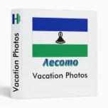 Bandera de Lesotho con nombre en ruso