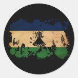 Bandera de Lesotho Pegatina Redonda