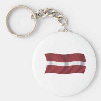 Bandera de Letonia Llavero Redondo Tipo Pin