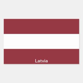 Bandera de Letonia Pegatina Rectangular