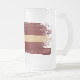 Bandera de Letonia Tazas De Café