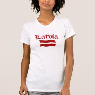 Bandera de Letonia (w/insciption) Camiseta