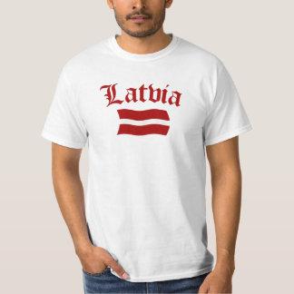 Bandera de Letonia (w/insciption) Playera