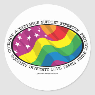 Bandera de LGBT Pegatinas Redondas