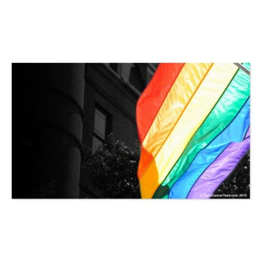Bandera de LGBTQ Plantilla De Tarjeta Personal