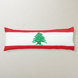 Bandera de Líbano Almohada De Cuerpo Entero