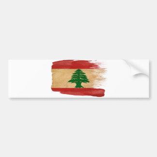 Bandera de Líbano Etiqueta De Parachoque