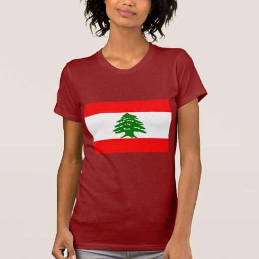 Bandera de Líbano Camisetas