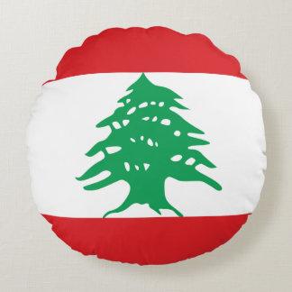 Bandera de Líbano Cojín Redondo