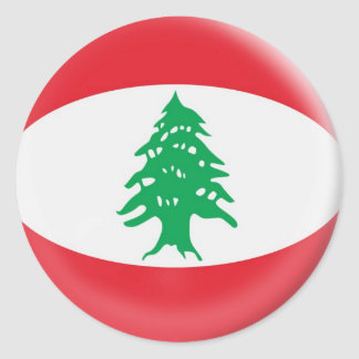 bandera de Líbano de 20 pequeña pegatinas Pegatina Redonda