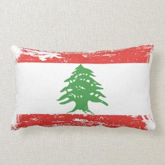 Bandera de Líbano del Grunge Cojín Lumbar