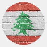 Bandera de Líbano Etiqueta