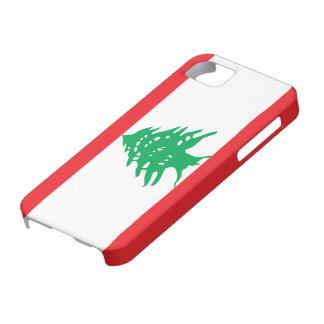 Bandera de Líbano iPhone 5 Case-Mate Cárcasas