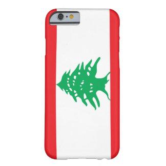 Bandera de Líbano Funda De iPhone 6 Barely There