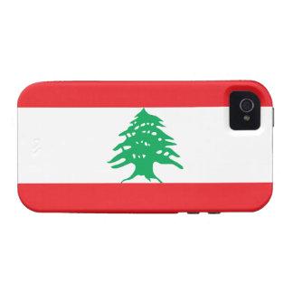 Bandera de Líbano iPhone 4 Funda