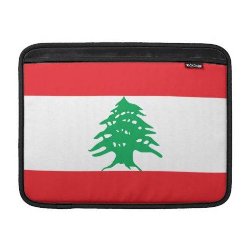 Bandera de Líbano Funda Para Macbook Air