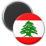 Bandera de Líbano Imán Para Frigorifico