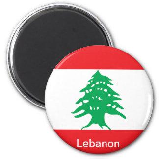 Bandera de Líbano Imán Redondo 5 Cm