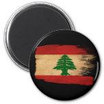 Bandera de Líbano Imanes Para Frigoríficos