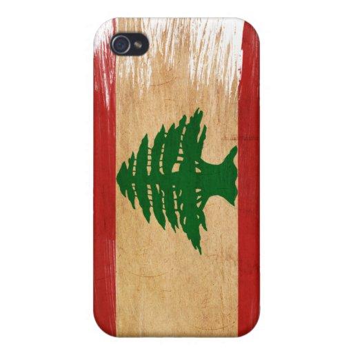 Bandera de Líbano iPhone 4 Carcasas