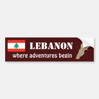 Bandera de Líbano + Pegatina para el parachoques d Pegatina De Parachoque