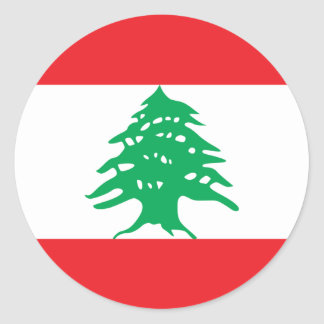 Bandera de Líbano Pegatina Redonda