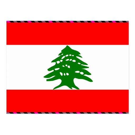 Bandera de Líbano Postales