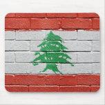 Bandera de Líbano Tapetes De Raton
